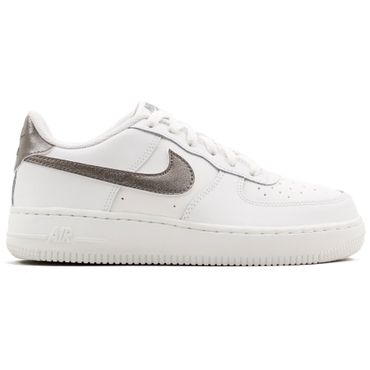 Nike Air Force 1 GS Sneaker weiß metallic grau – Bild 1