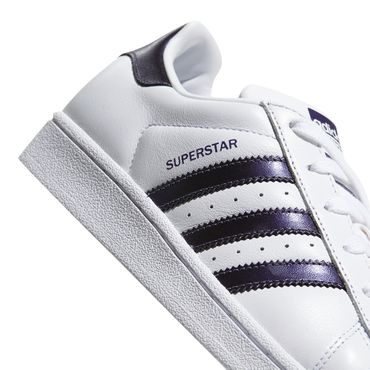 adidas Originals Superstar W Sneaker weiß metallic lila – Bild 3
