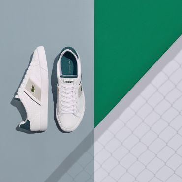 Lacoste Fairlead Sneaker weiß grün – Bild 5