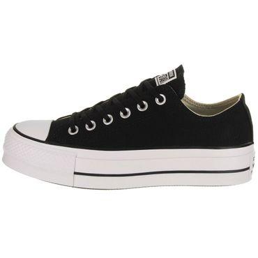 Converse All Star Lift OX Chuck Taylor Platform schwarz weiß – Bild 2