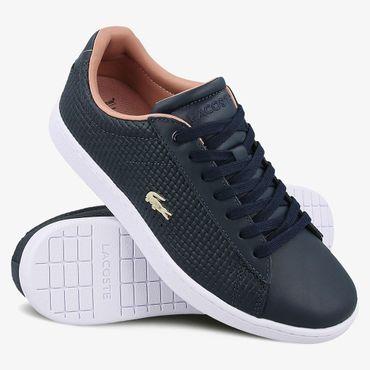 Lacoste Carnaby Evo Damen Sneaker navy pink 7-35SPW001205C – Bild 2