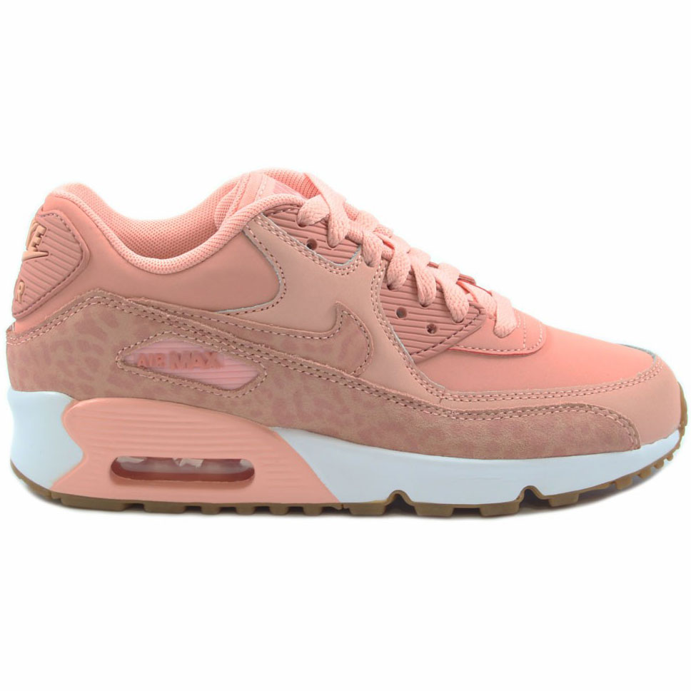 best service 16ab4 69b86 ... Nike Air Max 90 Leather SE GG Kinder Damen Sneaker coral stardust  897987 601 ...
