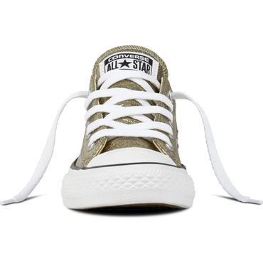 Converse All Star OX Chuck Taylor Chucks Kinder gold glitzer 660046C – Bild 3