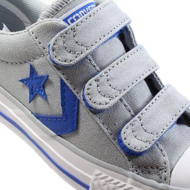 Converse Star Player EV 3V OX Kinder Sneaker grau blau 660034C – Bild 2