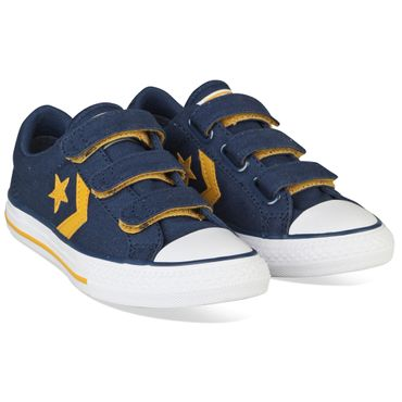 Converse Star Player EV 3V OX Kinder Sneaker blau gelb 660035C – Bild 4