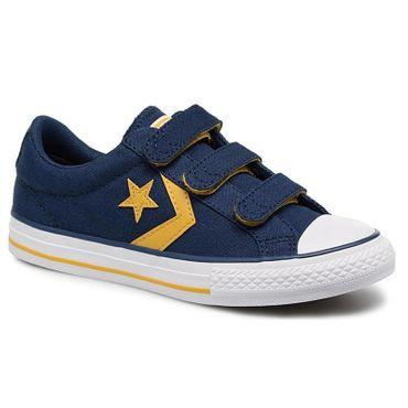 Converse Star Player EV 3V OX Kinder Sneaker blau gelb 660035C – Bild 3