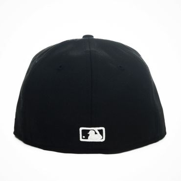 New Era MLB New York Yankees 59FIFTY Kappe schwarz weiß 10003436 – Bild 2