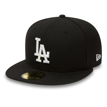 New Era MLB Los Angeles Dodgers 59FIFTY Kappe schwarz weiß 10047495 – Bild 1
