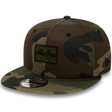 New Era Snapback 9FIFTY New Era Script Patch Camouflage grün braun 80581023 – Bild 1