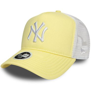New Era Snapback Woman MLB New York Yankees Trucker Cap Adjustable gelb weiß 80581032 – Bild 1