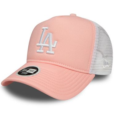 New Era Snapback Woman MLB Los Angeles Dodgers Trucker Cap Adjustable rosa weiß 80521033