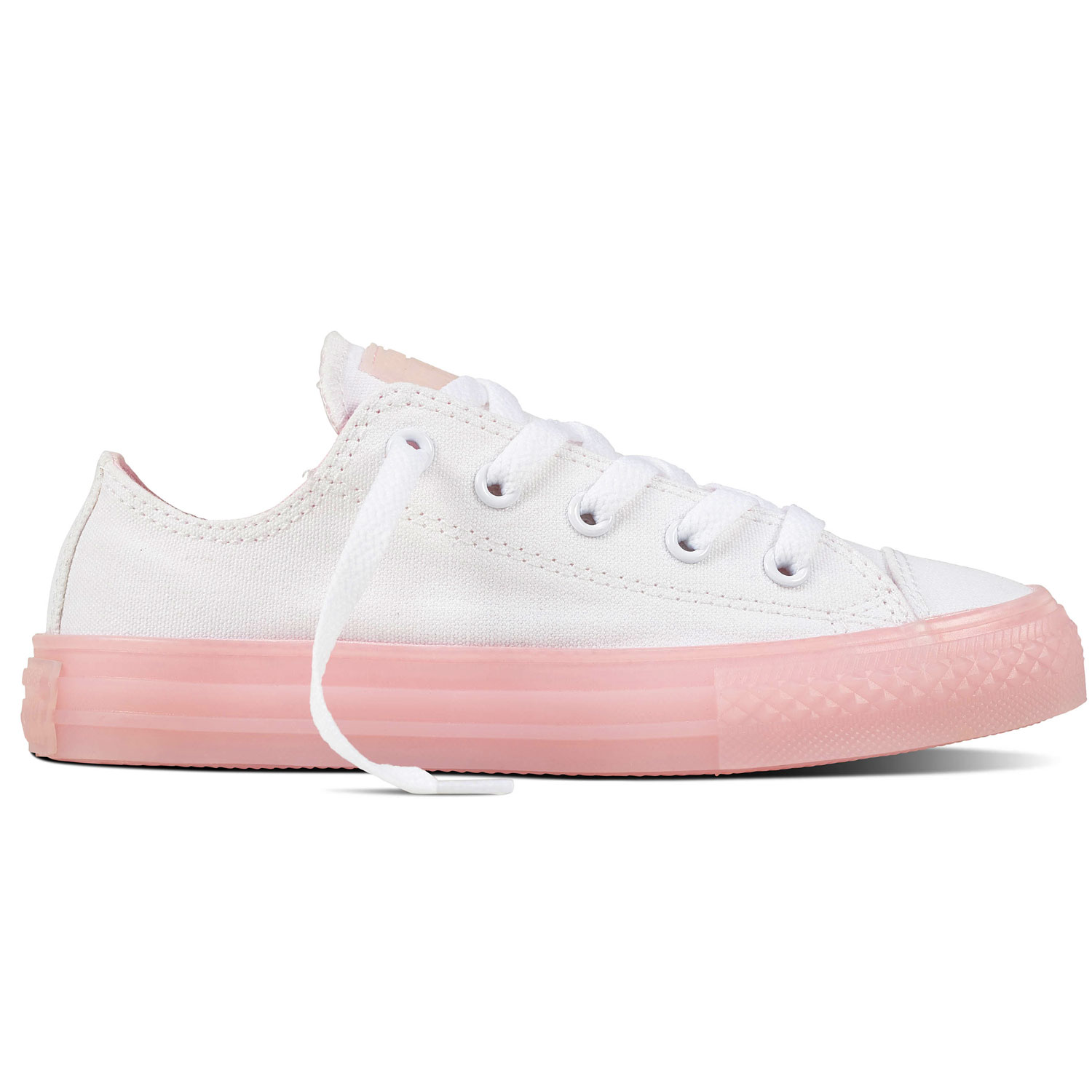 f442377493eb0 Converse All Star OX Chuck Taylor Chucks Kinder Damen weiß rosa 660719C