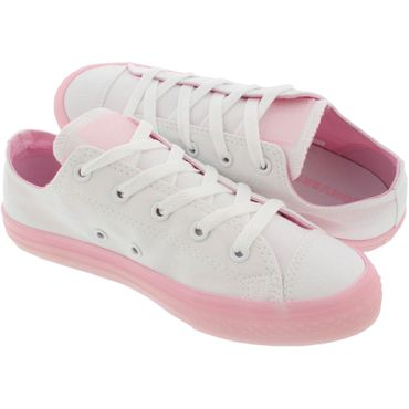 Converse All Star OX Chuck Taylor Chucks Kinder Damen weiß rosa 660719C – Bild 4