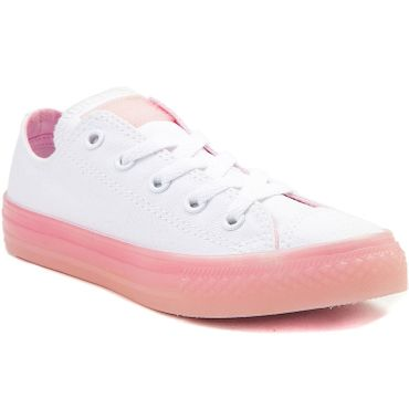 Converse All Star OX Chuck Taylor Chucks Kinder Damen weiß rosa 660719C – Bild 2