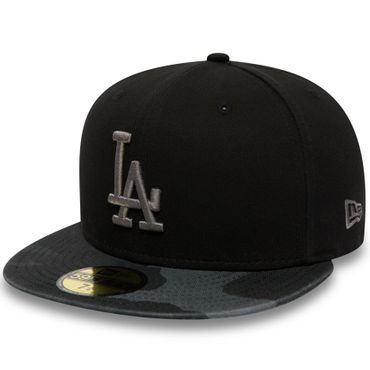 New Era MLB Los Angeles Dodgers Camouflage Washed 59FIFTY Kappe schwarz 80580944