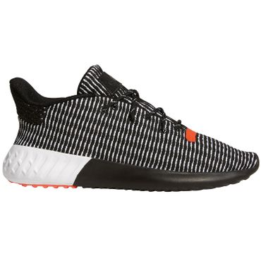 adidas Originals Tubular Dusk Sneaker black solar red AQ1185