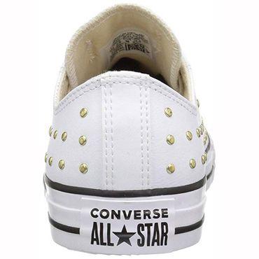 Converse All Star OX Chuck Taylor Chucks weiß gold nieten 561684C – Bild 3