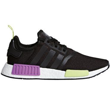 adidas Originals NMD_R1 Sneaker core black shock purple D96627