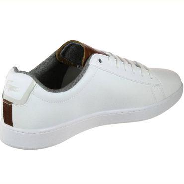 Lacoste Carnaby Evo 318 2 SPM Sneaker weiß braun 7-36SPM0010385 – Bild 2