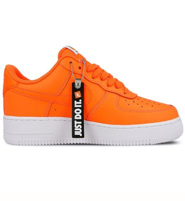 "Nike Air Force 1 '07 LV8 JDI Leather "" Just do it"" orange BQ5360 800 – Bild 1"