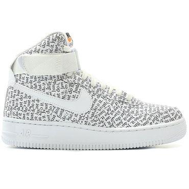 "Nike WMNS Air Force 1 Hi LX ""Just Do It"" Damen weiß schwarz AO5138 100 – Bild 1"