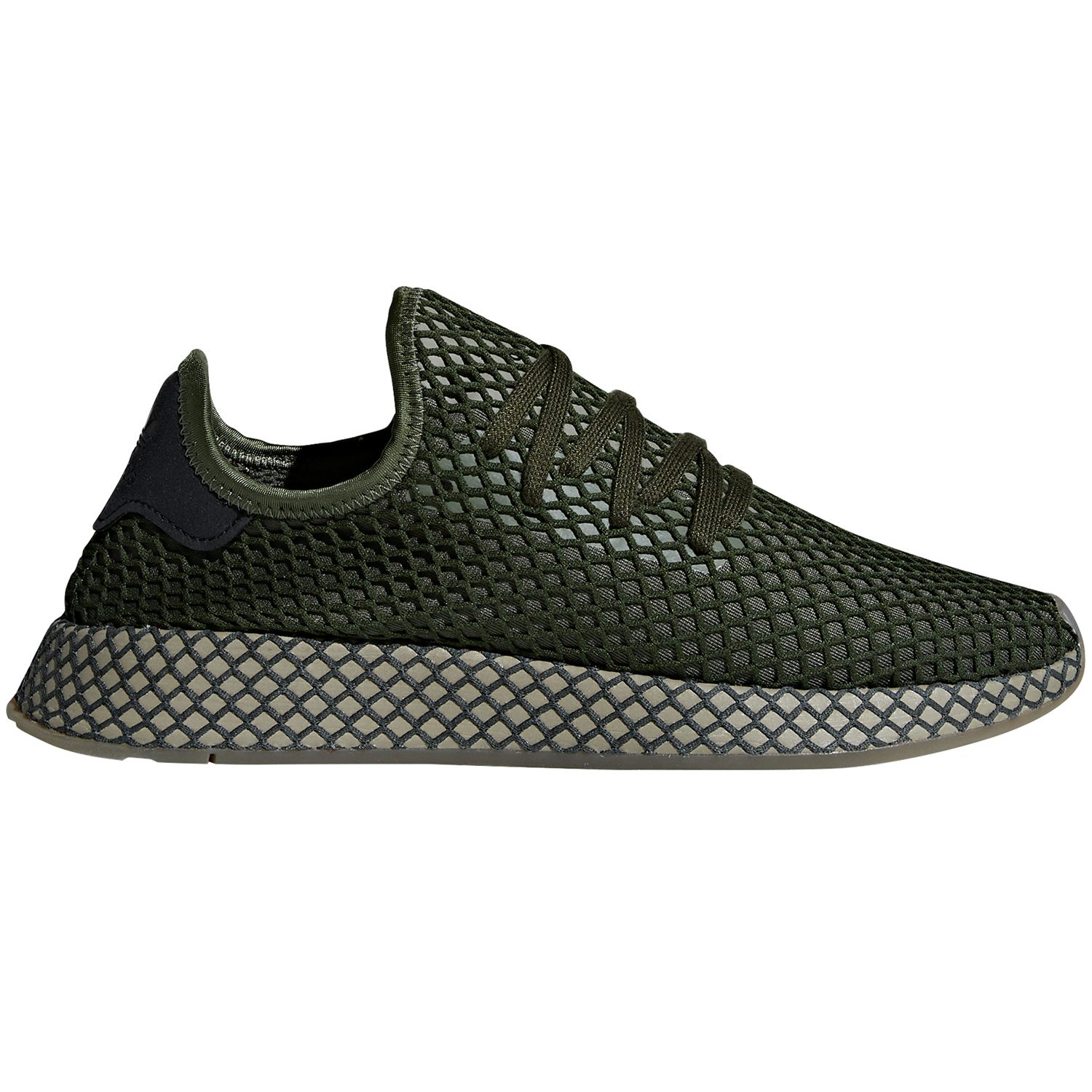 new concept 5d505 15345 adidas Originals Deerupt Runner Herren Sneaker base green B4
