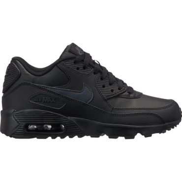 Nike Air Max 90 Leather GS schwarz grau 833412 022 – Bild 1
