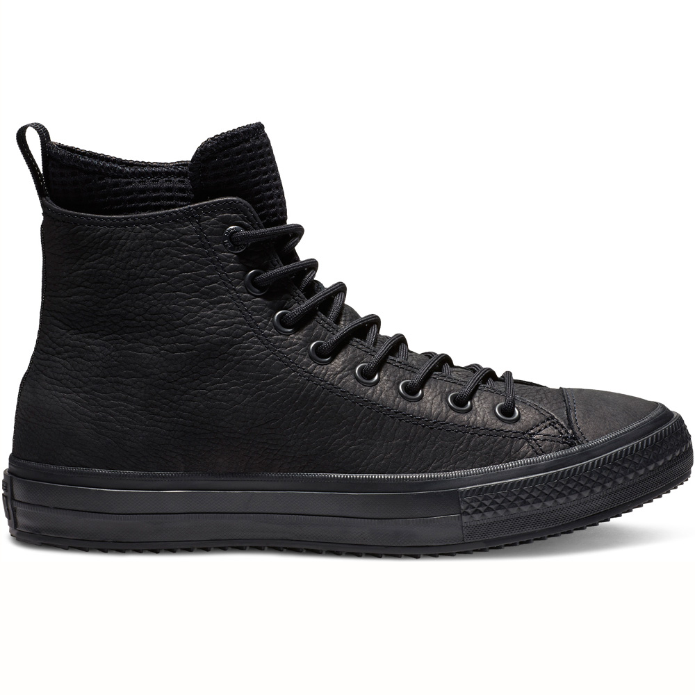1b72eed79103e Converse Chuck Taylor All Star WP Leather Boot Hi schwarz 162409C