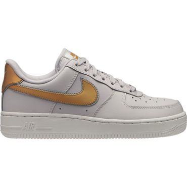 Nike Air Force 1 ' 07 Metallic Damen Sneaker vast grey metallic gold AR0642 001 – Bild 1