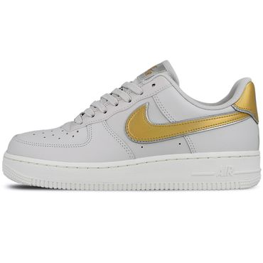 Nike Air Force 1 ' 07 Metallic Damen Sneaker vast grey metallic gold AR0642 001 – Bild 2