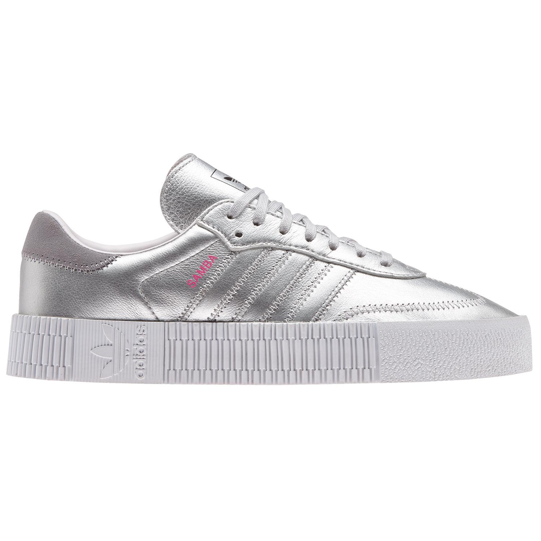 free shipping f76dd f651a adidas Originals Sambarose W Damen silber weiß D96769