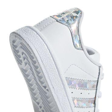 adidas Originals Superstar EL I Kinder Sneaker weiß holo CG6707 – Bild 4