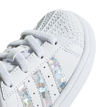 adidas Originals Superstar EL I Kinder Sneaker weiß holo CG6707 – Bild 2