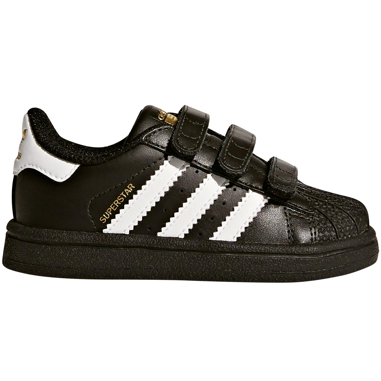 adidas Superstar CF I Sneaker Kinder Baby schwarz weiß BZ0419