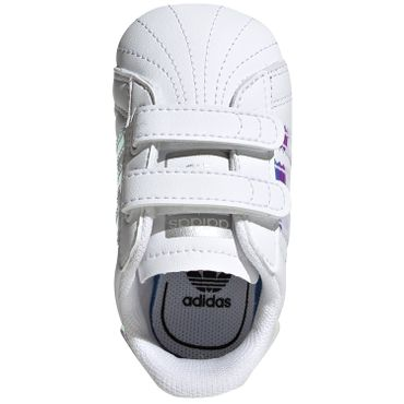 adidas Originals Superstar CRIB Kinder Sneaker holo weiß BD8000 – Bild 5