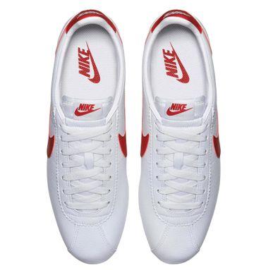 Nike Classic Cortez Leather Herren Sneaker weiß rot 749571 154 – Bild 5