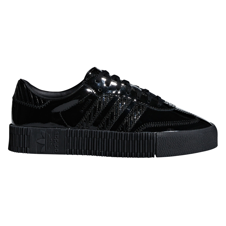 8c39ebbcdce975 adidas Originals Sambarose W Damen Sneaker schwarz lack CG6618
