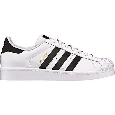 adidas Superstar J Sneaker weiß schwarz C77154 – Bild 1