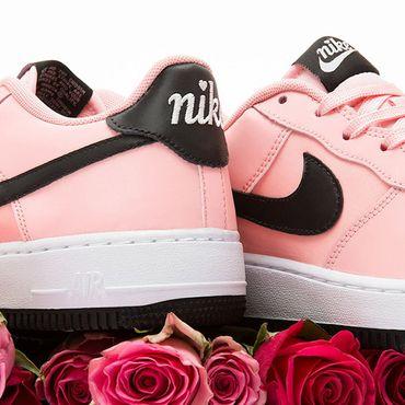 Nike Air Force 1 VDAY (GS) Sneaker korall schwarz BQ6980 600 – Bild 4