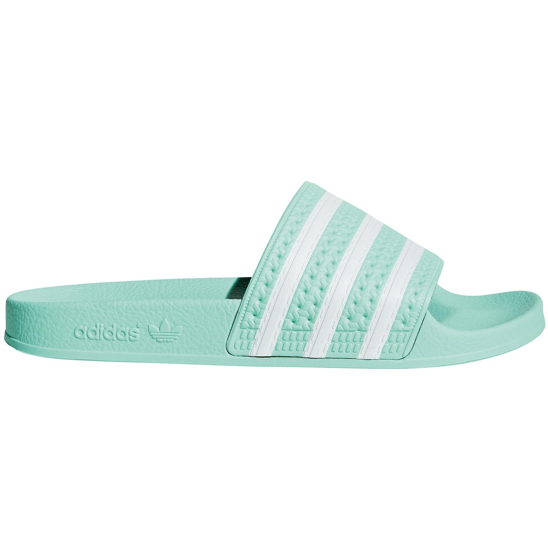 erstklassiges echtes ungeschlagen x San Francisco adidas Originals Adilette W Damen Slipper türkis weiß CG6538