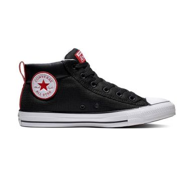 Converse Chuck Taylor All Star Street Boot Mid schwarz rot 163404C