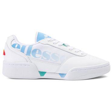Ellesse Piacentino LTHR AF Damen Sneaker weiß hellblau 6-10169 – Bild 1