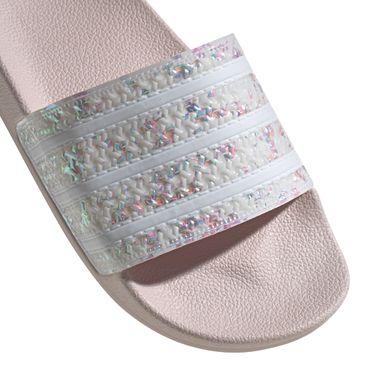 adidas Originals Adilette Damen Slipper beige Glitzer Schimmer G27232 – Bild 2