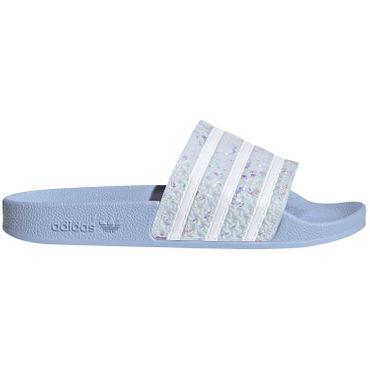 adidas Originals Adilette Damen Slipper blau Glitzer Schimmer G27229 – Bild 1