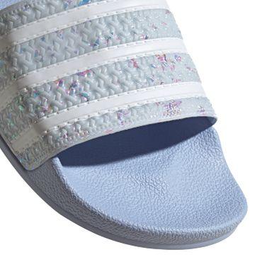 adidas Originals Adilette Damen Slipper blau Glitzer Schimmer G27229 – Bild 2