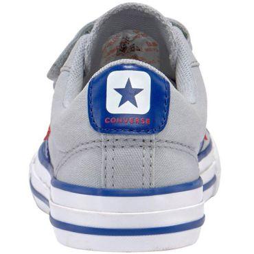 Converse Star Player EV 3V OX Kinder Sneaker grau blau 663601C – Bild 4