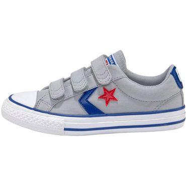 Converse Star Player EV 3V OX Kinder Sneaker grau blau 663601C – Bild 2