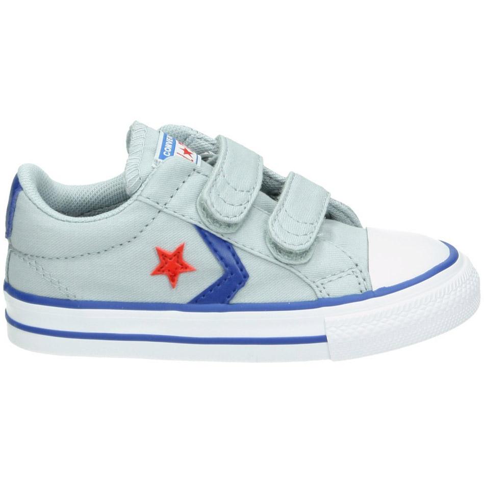 Converse Star Player EV 2V OX Kinder Sneaker grau blau 763529C