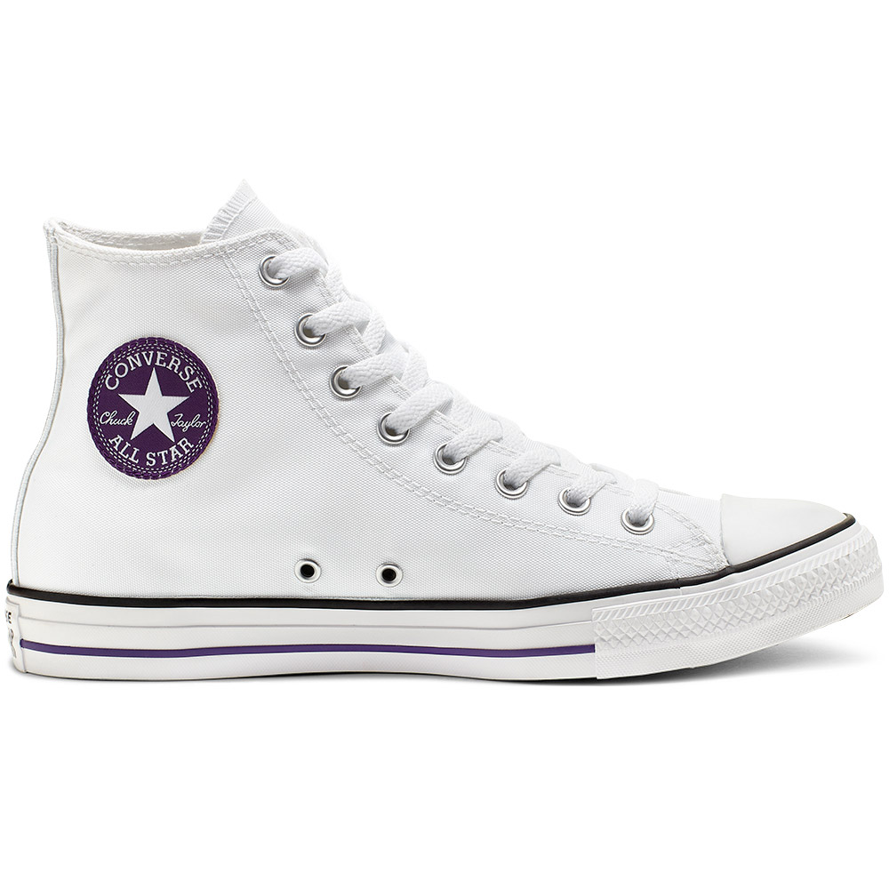 Converse All Star Hi Chuck Taylor Chucks weiß lila 164411C