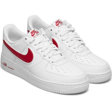 Nike Air Force 1 '07 3 Sneaker weiß rot AO2423 102 – Bild 3